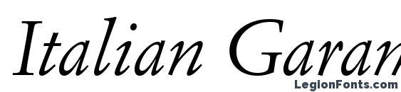 Шрифт Italian Garamond Italic BT