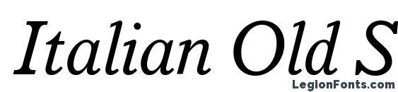Шрифт Italian Old Style MT Italic