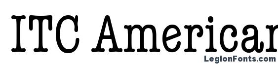 Шрифт ITC American Typewriter LT Condensed Alternate