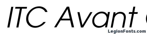 ITC Avant Garde Gothic Книжный Oblique Font