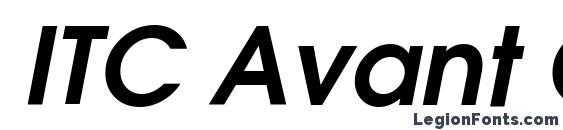 ITC Avant Garde Gothic Demi Oblique Font