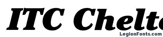 Шрифт ITC Cheltenham LT Ultra Italic