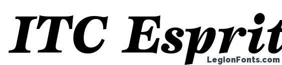 ITC Esprit LT Black Italic Font