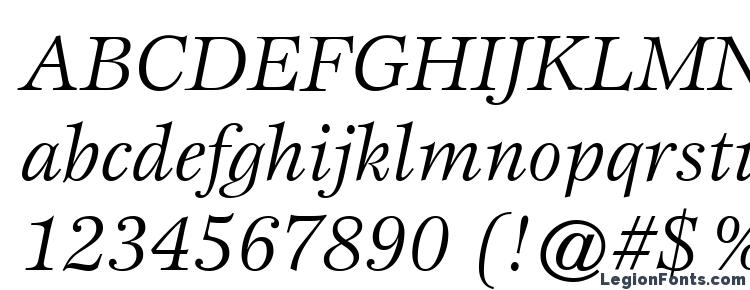 глифы шрифта ITC Esprit LT Book Italic, символы шрифта ITC Esprit LT Book Italic, символьная карта шрифта ITC Esprit LT Book Italic, предварительный просмотр шрифта ITC Esprit LT Book Italic, алфавит шрифта ITC Esprit LT Book Italic, шрифт ITC Esprit LT Book Italic