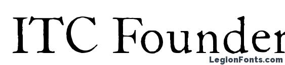 Шрифт ITC Founders Caslon 12 Roman