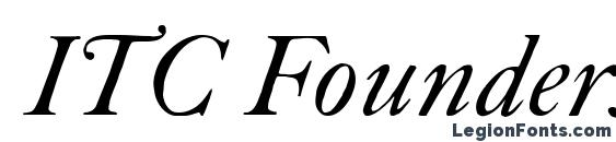 ITC Founders Caslon 30 Italic Font