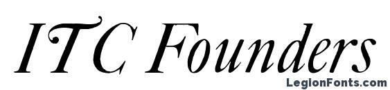 Шрифт ITC Founders Caslon 42 Italic