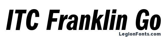 ITC Franklin Gothic LT Demi Compressed Italic Font
