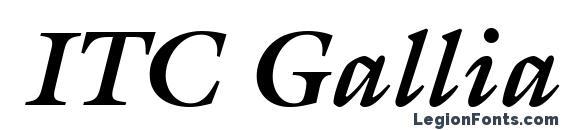 ITC Galliard LT Bold Italic Font