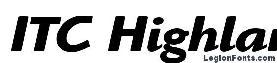 Шрифт ITC Highlander LT Bold Italic