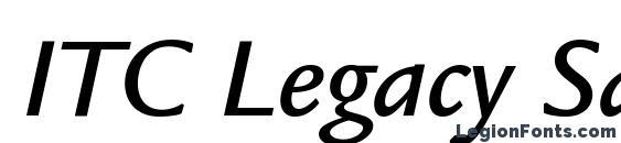 ITC Legacy Sans LT Medium Italic Font
