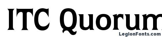 Шрифт ITC Quorum LT Bold