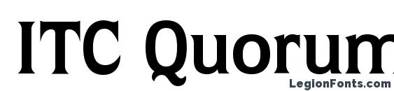 ITC Quorum LT Bold Font