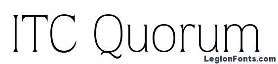ITC Quorum LT Light Font