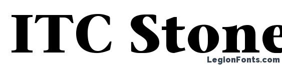 ITC Stone Serif LT Bold Font