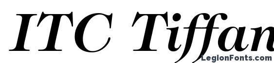 Шрифт ITC Tiffany LT Demi Italic
