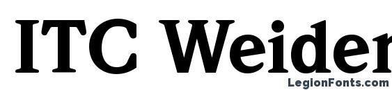 Шрифт ITC Weidemann LT Black