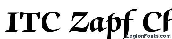 ITC Zapf Chancery LT Bold Font