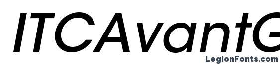 ITCAvantGardeStd MdObl Font