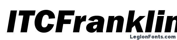 ITCFranklinGothicStd HvyIt Font