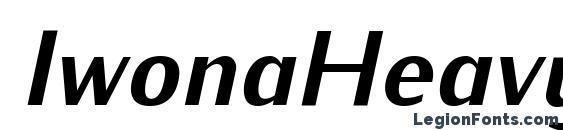 IwonaHeavy Italic Font