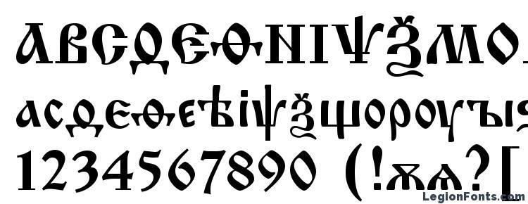 glyphs Izhitsa regular font, сharacters Izhitsa regular font, symbols Izhitsa regular font, character map Izhitsa regular font, preview Izhitsa regular font, abc Izhitsa regular font, Izhitsa regular font