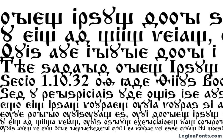 specimens Izhitsa regular font, sample Izhitsa regular font, an example of writing Izhitsa regular font, review Izhitsa regular font, preview Izhitsa regular font, Izhitsa regular font
