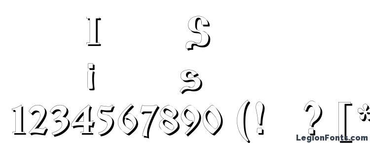 глифы шрифта Izhitsashadowos, символы шрифта Izhitsashadowos, символьная карта шрифта Izhitsashadowos, предварительный просмотр шрифта Izhitsashadowos, алфавит шрифта Izhitsashadowos, шрифт Izhitsashadowos