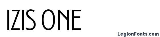 Шрифт Izis One