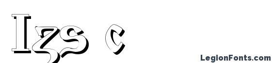 Izs c font, free Izs c font, preview Izs c font