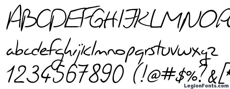 глифы шрифта Jacques Handwriting, символы шрифта Jacques Handwriting, символьная карта шрифта Jacques Handwriting, предварительный просмотр шрифта Jacques Handwriting, алфавит шрифта Jacques Handwriting, шрифт Jacques Handwriting