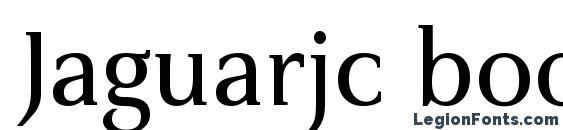Шрифт Jaguarjc book