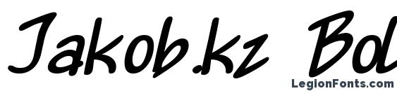 Шрифт Jakob.kz Bold Italic