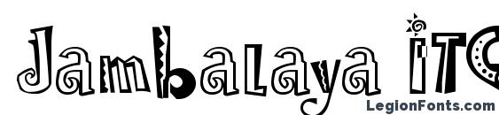 Шрифт Jambalaya ITC TT