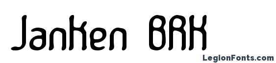 Janken BRK Font