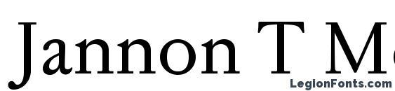 Jannon T Moderne OT Font