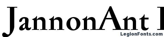 JannonAnt Bold Font