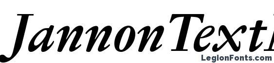 JannonTextMedOSF BoldItalic Font