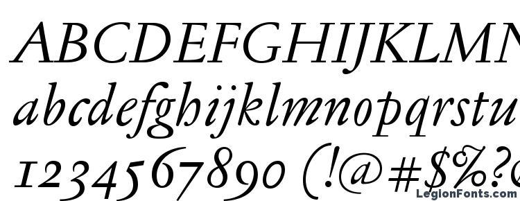 glyphs JannonTextOSF Italic font, сharacters JannonTextOSF Italic font, symbols JannonTextOSF Italic font, character map JannonTextOSF Italic font, preview JannonTextOSF Italic font, abc JannonTextOSF Italic font, JannonTextOSF Italic font