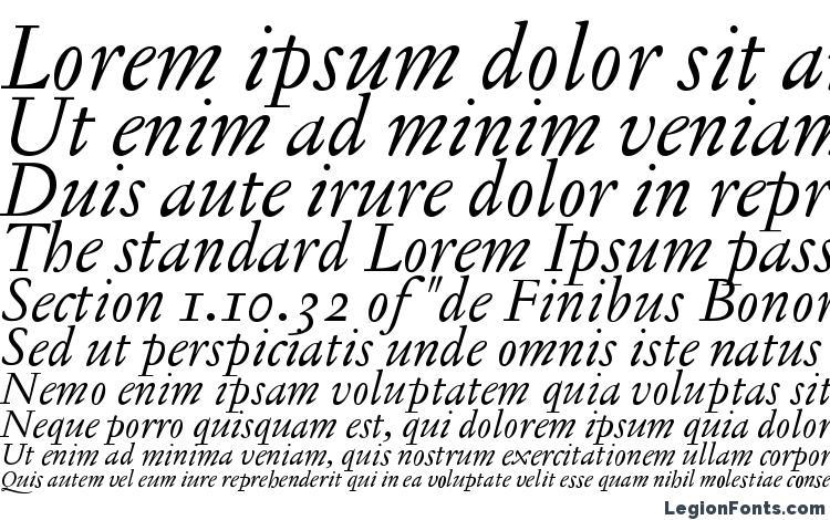 specimens JannonTextOSF Italic font, sample JannonTextOSF Italic font, an example of writing JannonTextOSF Italic font, review JannonTextOSF Italic font, preview JannonTextOSF Italic font, JannonTextOSF Italic font