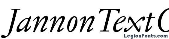 JannonTextOSF Italic font, free JannonTextOSF Italic font, preview JannonTextOSF Italic font