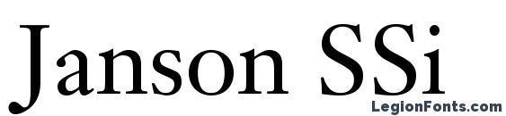 Шрифт Janson SSi