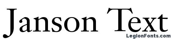 Janson Text LT 55 Roman Font