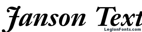 Шрифт Janson Text LT 76 Bold Italic