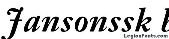 Jansonssk bold italic Font
