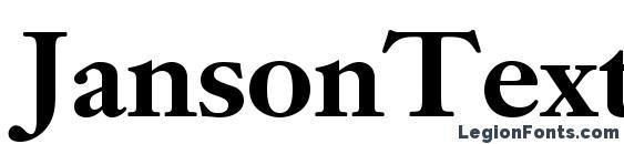 Шрифт JansonTextLTStd Bold