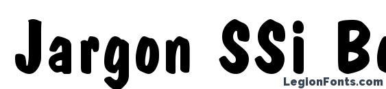 Jargon SSi Bold font, free Jargon SSi Bold font, preview Jargon SSi Bold font