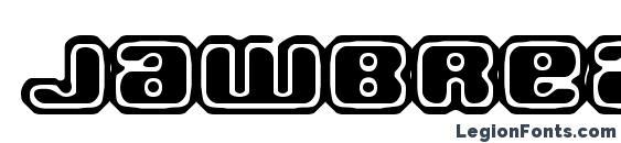 Jawbreaker OL2 BRK font, free Jawbreaker OL2 BRK font, preview Jawbreaker OL2 BRK font