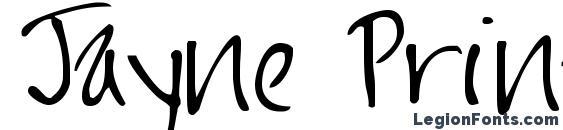 Jayne Print Hand Font