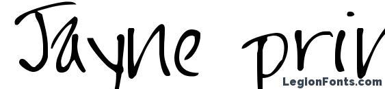 Шрифт Jayne print